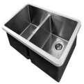 Edgesinks Double Sink PFRE 400 Keukenbak product photo